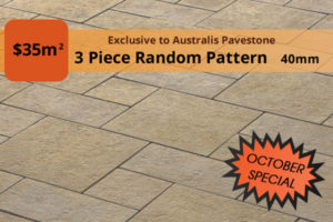 3 Piece Random Pattern Paving