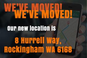 We've moved to 8 Hurrell Way, Rockingham WA 6168